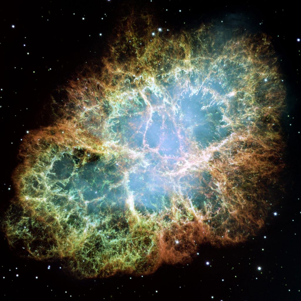 Crab Nebula, the result of a supernova